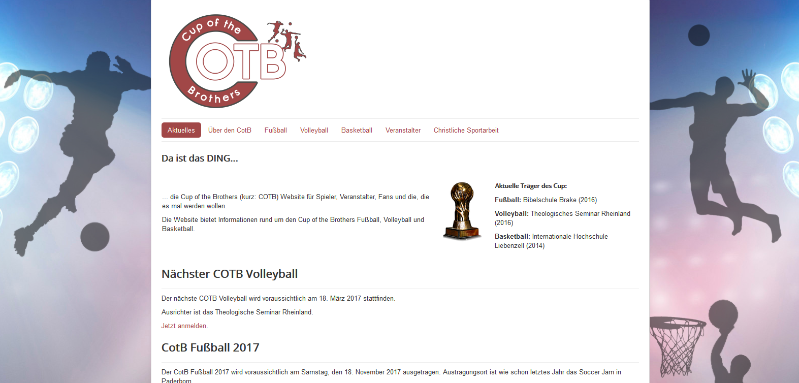 Cup of the Brothers – Website